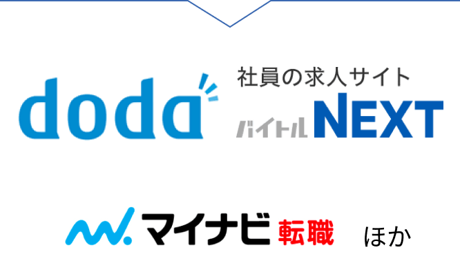 'doda マイナビ転職 イーキャリア バイトルNEXT
